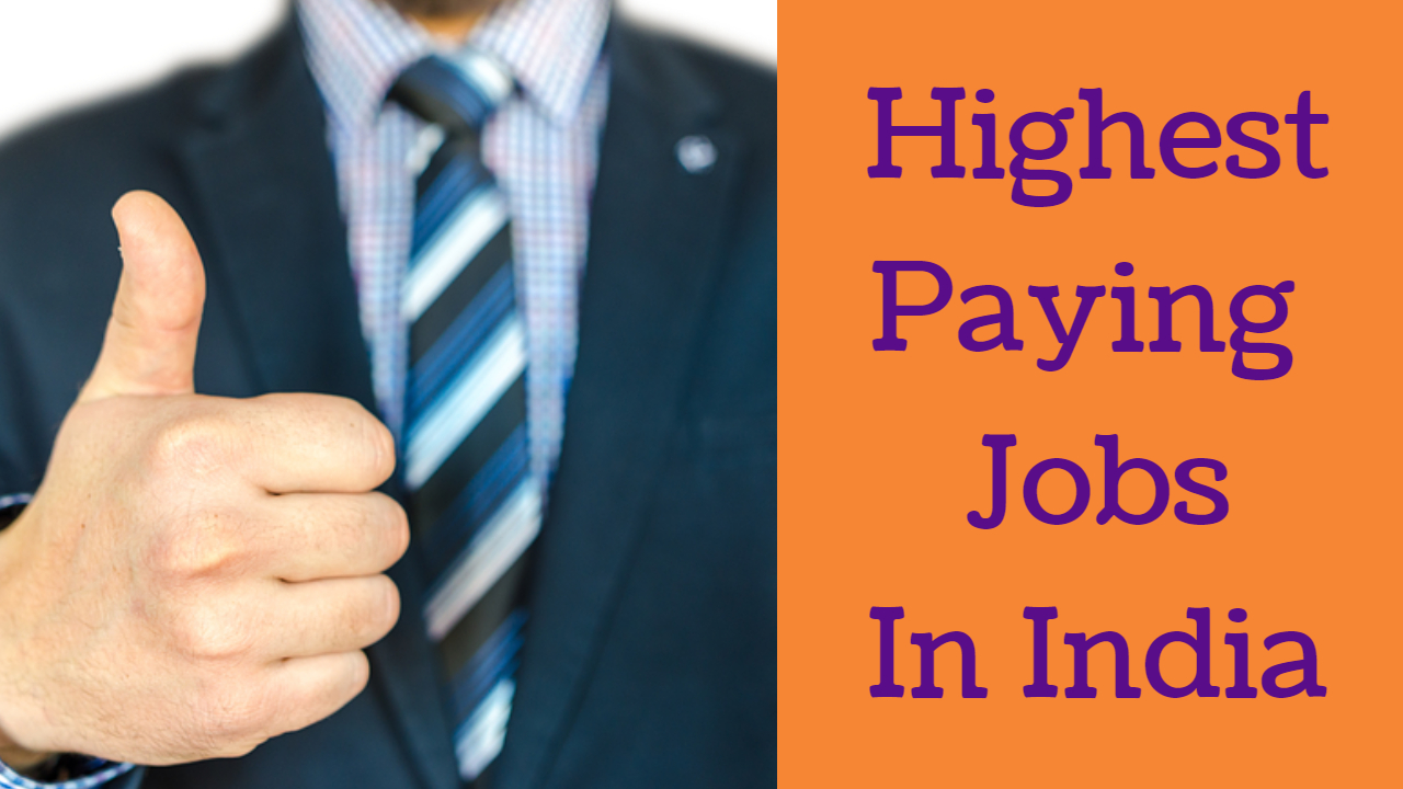 10+ Highest Paying Jobs in India – Successful Career Opportunity